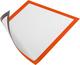 Duraframe Magnetic A4, orange, für schnelles Auswechseln von Infos VE = Beutel = 5 Stück