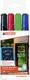 Window Marker 4095, 4er Etui schwarz, rot, blau, hellgrün VE = 1 Etui á 4 Stifte