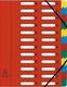 Eckspann-Ordnungsmappe 24 Fächer rot 425g/qm Manila Karton, Innenfach
