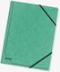 Eckspanner A4 355g Colorspan-Karton mit praktischen Gummizügen grün