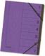 Ordnungsmappe A4 aus starkem 355g Colorspan-Karton, mit 7 Taben und