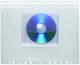 Umschlag, Dehnfalte, Abheftrand, CD farblos matt transparent