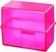 Karteibox A7 quer Signal pink für ca. 300 Karten