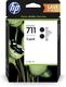 Tintenpatrone 711 schwarz für Designjet T120 ePrinter, VE = 1 Pack à 2 Stück