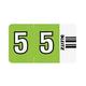 Ziffern-Signal-Streifen, 5, grün, selbstklebend, auf Trägerbandstreifen