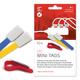 Label-The-Cable Mini 10er Set schwarz 10 kleine Klettbinder mit