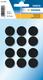 Klettpunkte schwarz 19 mm 6 Paare 1Pack