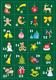 Adventskalender Sticker 1-24 beglimmert 2 Blatt