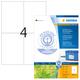 Etikett 105x148mm ws Recycling A4 400Et 100Bl 4Et Bl LaserInkCopy