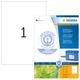 Etikett 210x297mm ws Recycling A4 100Et 100Bl 1Et Bl LaserInkCopy