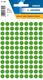 Etikett 8mm Farbpunkt d.grün 540Et 1Pack