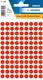 Etikett 8mm Farbpunkt l.rot 540Et 1Pack