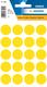 Herma Markierungspunkte, Ø 19mm, gelb, 100 Etiketten, Packung à 5 Blatt, Blattformat: 111x170mm