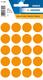 Etikett 19mm Farbpunkt l.orange 100 Etiketten pro Packung VE = 10 Pack a 100 Stück