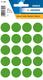 Etikett 19mm Farbpunkt d.grün 100Et 1Pack