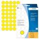 Vielzwecketiketten d. 19mm gelb  1 Packung=1280 Stück