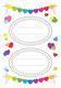 Schmucketikett Decor Papier Geschenke Sticker 3Bl 1Pack