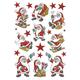 Schmucketikett Decor Weihnachten Klassisches Weihnachten 3Bl 1Pack