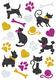 Schmucketikett MAGIC Katzen und Hunde glittery 1Bl 1Pack