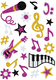 Schmucketikett MAGIC Musik glittery 1Bl 1Pack