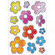 Schmucketikett Decor Blumen Silberp 2Bl 1Pack