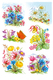 Schmucketikett DECOR Gebirgsblumen 3Bl 1Pack