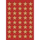 Schmucketikett Decor Sterne 13mm Goldfolie 3Bl 1Pack