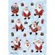 Schmucketikett Decor Weihnachten Weihnachtsmann 3Bl 1Pack