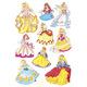 Schmucketikett Decor Prinzessinen 3Bl 1Pack