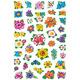 Schmucketikett Decor kleine Blumenköpfe 3Bl 1Pack