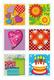 Schmucketikett MAGIC Briefmarken sticker, 3-D Papier 1Bl 1Pack