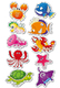 Schmucketikett Magic Sea life Prismaticfolie 1Bl 1Pack