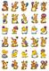 Schmucketikett Decor Kleine Hasen und Küken 3Bl 1Pack
