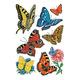 Schmucketikett Decor Papier Schmetterlinge 3Bl 1Pack