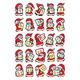 Schmucketikett Decor Weihnachten Adventsk.Pap Goldpräg 2Bl 1Pack
