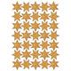 Schmucketikett Decor Sterne 16mm Folie gold Beglimmert 1Bl 1Pack
