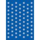 Schmucketikett Decor Sterne 8mm Silberfolie 3Bl 1Pack