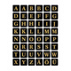Buchstaben 13x13mm A-Z sw go gepr. Folie 2Bl 1Pack