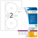 Etikett 116mm CD Maxi ws Inkjet A4 50 Et 25Bl 2Et Bl