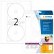 Etikett 116mm CD Maxi ws glossy A4 50Et 25Bl 2Et Bl LaserCopy
