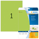 Etikett 210x297mm neon grün A4 20Et 20Bl 1Et Bl LaserCopy