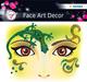 Face Art Sticker Gecko 1Bl 1Pack