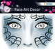 Face Art Sticker Spider 1Bl 1Pack
