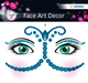 Face Art Sticker Bollywood 1Bl 1Pack