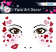 Face Art Sticker Love 1Bl 1Pack