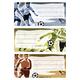 Buchetikett Fussball 3Bl 1Pack
