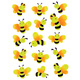 Schmucketikett Magic Bienen Neon 1Bl 1Pack