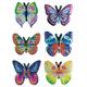 Schmucketikett Magic Schmetterlinge geprägt 1Bl 1Pack