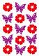 Schmucketikett MAGIC Blumen und Schmetterlinge, Filz 1Bl 1Pack