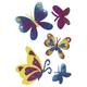 Schmucketikett Magic Schmetterlinge 1Bl 1Pack
